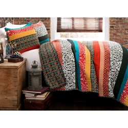 Triangle Home Boho Stripe Quilt Set