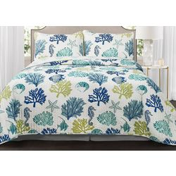Triangle Home Coastal Reef 3-pc. Quilt Set