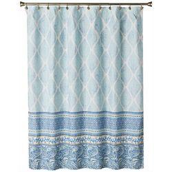 Saturday Knight Boho Paisley Fabric Shower Curtain