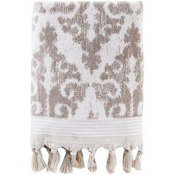 Saturday Knight Mirage Taupe Fringe Bath Towel