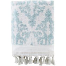 Saturday Knight Mirage Aqua Fringe Bath Towel