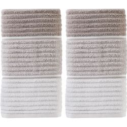 Saturday Knight Planet Ombre Taupe 2-pc. Hand Towel Set