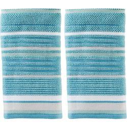 Saturday Knight Seabrook Stripe 2-pc. Hand Towel Set