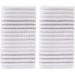 Saturday Knight Tie Dye Stripe Grey 2-pc. Hand Towel Set