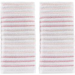 Saturday Knight Tie Dye Stripe Pink 2-pc. Hand Towel Set