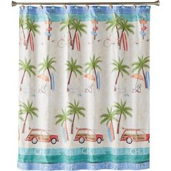 Saturday Knight Paradise Beach Shower Curtain