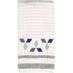 Saturday Knight Cubes White Hand Towel