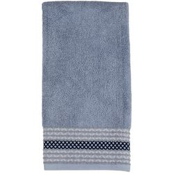 Saturday Knight Cubes Silver Blue Hand Towel