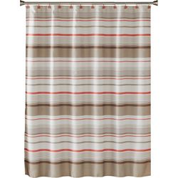 Saturday Knight Coral Gardens Stripe Shower Curtain