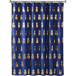 Saturday Knight Gilded Pineapple Shower Curtain
