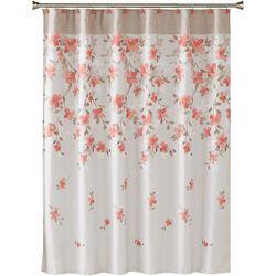 Saturday Knight Coral Garden Floral Shower Curtain