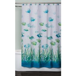 Saturday Knight Atlantis Fabric Shower Curtain