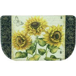 Bacova French Sunflower Memory Foam Slice Mat