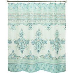 Bacova Willow Aqua Shower Curtain