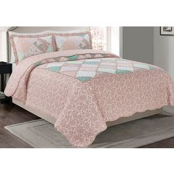 Morgan Home Fashions Isabelle Reversible Quilt Set