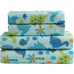 Morgan Home Fashions Kid's Dinosaur Microfiber Sheet Set