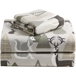 Morgan Home Fashions Geraldine Green Flannel Sheet Set