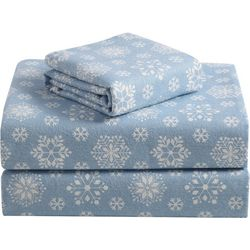 Morgan Home Fashions Geraldine Blue Flannel Sheet Set