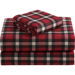 Morgan Home Fashions Geraldine Red Flannel Sheet Set
