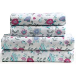 Kid's Floral Microfiber Sheet Set
