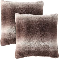 Morgan Home Fashions Millburn Faux Fur Throw Pillow