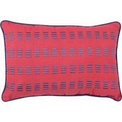 Morgan Home Preppy Plaid Oblong Pillow