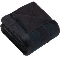 Morgan Home Fashions Millburn Faux Fur Throw Blanket