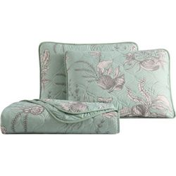 Morgan Home Simone Seashell Seafoam Quilt Set