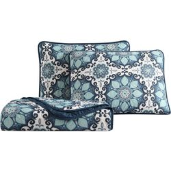 Morgan Home Sampson Blue Medallion Quilt Set