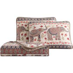 Morgan Home Elephant Print Quilt Set