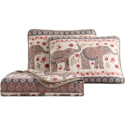 Morgan Home Fashions Elephant Print Quilt Set