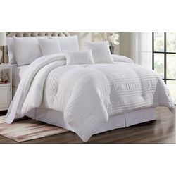 Morgan Home Victoria White Pleated 7-pc. Comforter Set