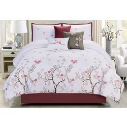 Morgan Home Aubrey Cherry Blossom 7-pc. Comforter Set