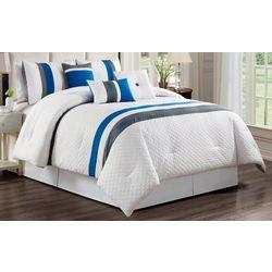 Morgan Home Max Striped 7-pc Comforter Set