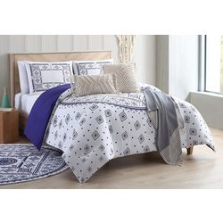 Sand Cloud Medallion Navy Comforter Set