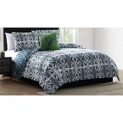Morgan Home Paxton Blue Geometric Print Comforter Set