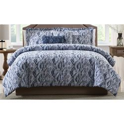 Morgan Home Allyson Blue Ikat 5-piece Comforter Set
