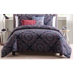 Morgan Home Eva Reversible Blue Medallion 5-pc Comforter