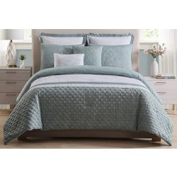 Morgan Home Ezra Quilted & Embroidered 7-pc Comforter Set