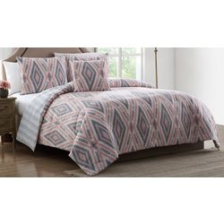 Morgan Home Delilah Pink & Grey Tribal Print Comforter Set