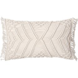 Sand Cloud Shahi Oblong Crochet Throw Pillow