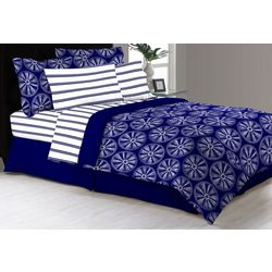Morgan Home Fashions Delray Navy Comforter & Sheet Set
