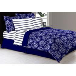 Morgan Home Fashions Delray Navy Comforter & Sheet