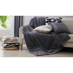 Morgan Home Evelyn Faux Fur Throw Blanket