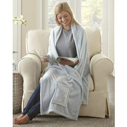 Morgan Home Fashions Ultra-Plush Readers Wrap Throw Blanket