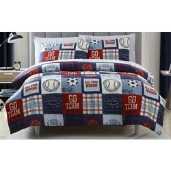 Morgan Home Kid's Sports Fan Comforter Set