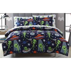 Morgan Home Kid's Allan The Peace Alien Comforter Set