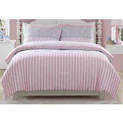 Morgan Home Fashions Kid's Ellie Stripped Comforter Set