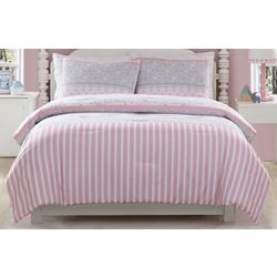 Morgan Home Kid's Ellie Stripped Comforter Set
