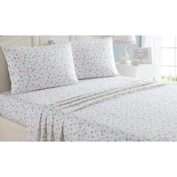 Kid's Multi Dot Microfiber Sheet Set